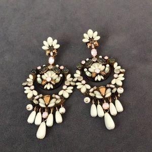 Jeweled tortoise chandelier earrings
